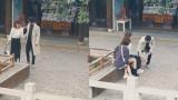 杨紫穿高跟鞋站不稳,看到肖战的手部动作后,网友直呼太宠溺
